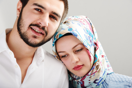 Arabic couple together photo