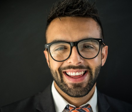 succesful: Portrait of attractive man again black smiling