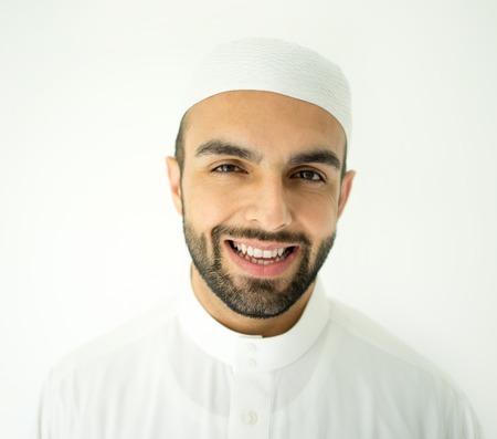 qameez: Arabic young businessman posing