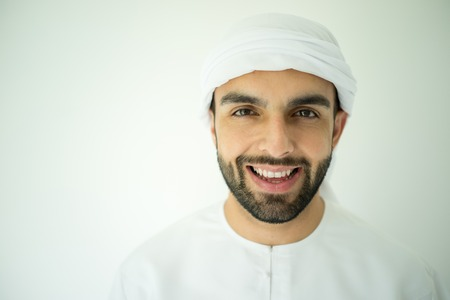 Arabic young man posing Stock Photo