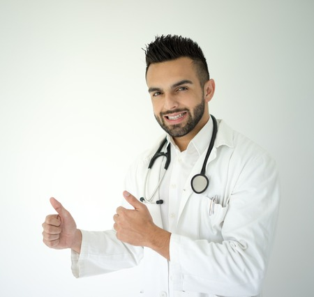 Confident young medical doctor photo