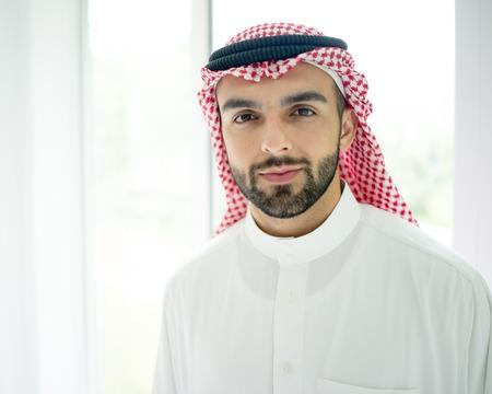 KSA: Arabic young businessman posing