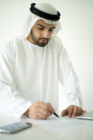 arab man: Arabic man making successful deal Stock Photo