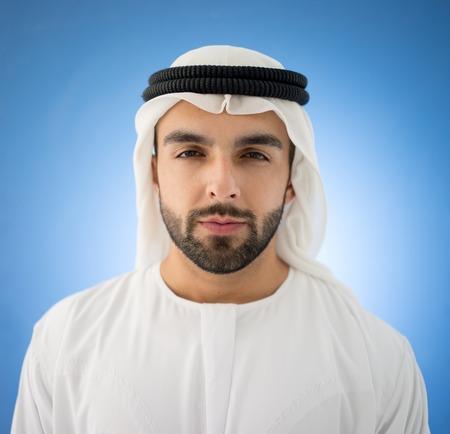 arabic man: Arabic man on blue