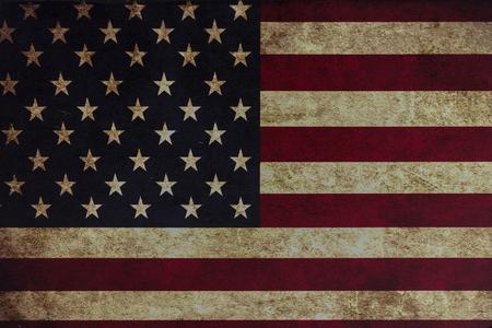 patriotic: Grunge American flag background