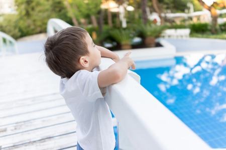 holiday spending: Happy kids spending holiday vacation in beautiful resort