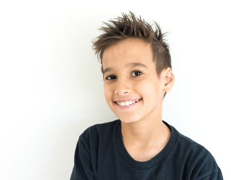 9 year old: Boy face Stock Photo