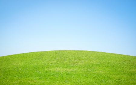 green world: Perfect grass golf course field