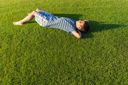 grass beautiful: Enyojing on beautiful grass meadow