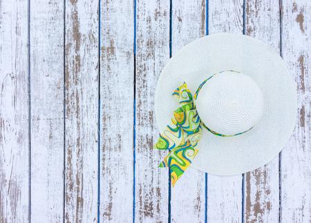 white hat: White fashionable hat