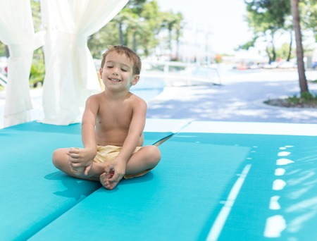 little boys: Happy kids spending holiday vacation in beautiful resort