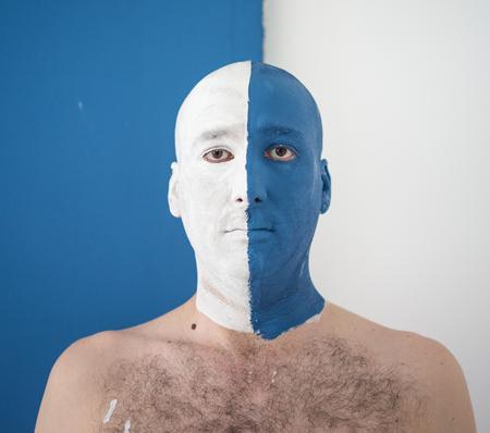 portait: Conceptual artistic face portait photo of a man Stock Photo