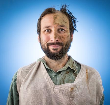 Conceptual artistic face portait photo of a man Stock Photo