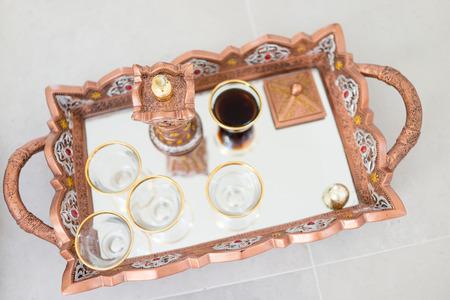 Traditional coffee in Dallah Stock Photo