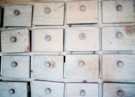 drawers: Wooden drawers