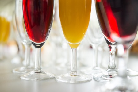 Drink colorful glasses Stock Photo