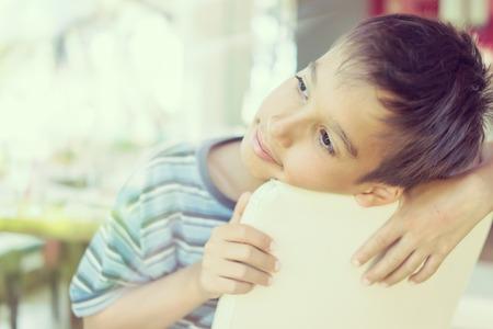 child boy: Kids in restaurant