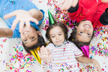 children birthday: Group of kids in party
