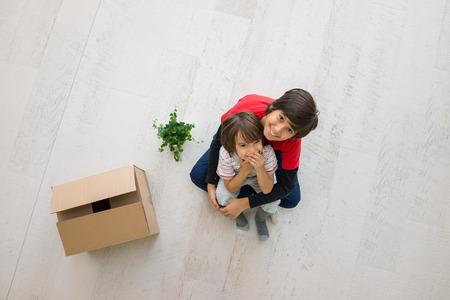 床平面図に新しいホーム移動の子供たち