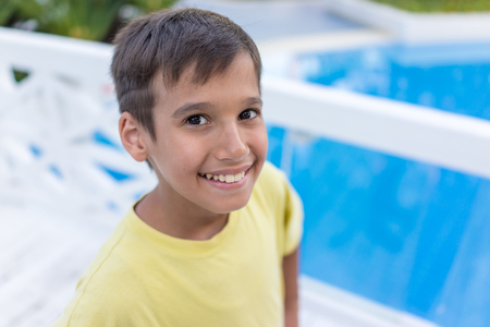 pool rooms: Enjoying childhood at summer vacation