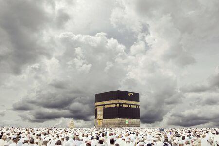 La meca con fondo de nubes dinámicas