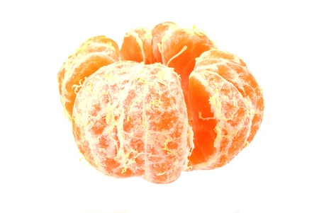One small chinese orange on white background photo