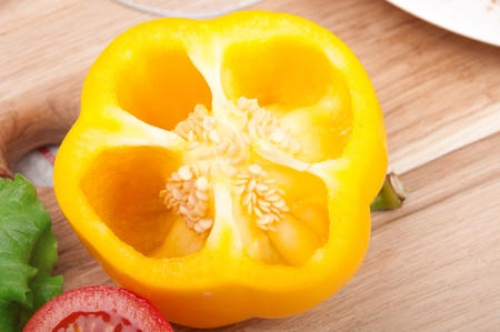 belly pepper: yellow belly pepper Stock Photo