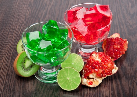 red and green jelly