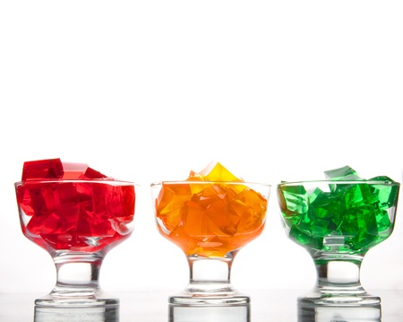 organic drinks: tri-colored jelly