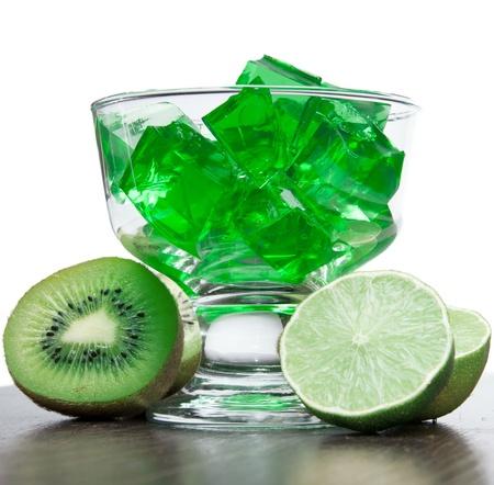 green jelly Stock Photo
