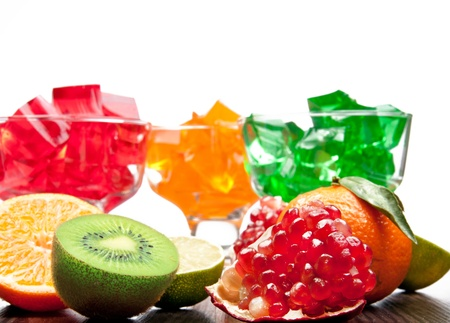 gelatina: jalea de frutas Foto de archivo