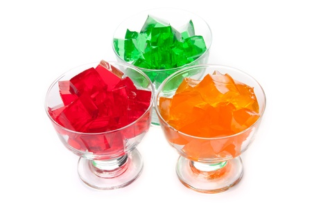 Three colored jelly isolated