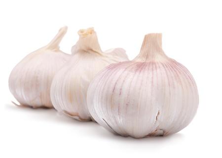 garnishing: garlic bulbs Stock Photo