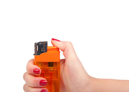 hand with lighter. Stock Photo - 12605651