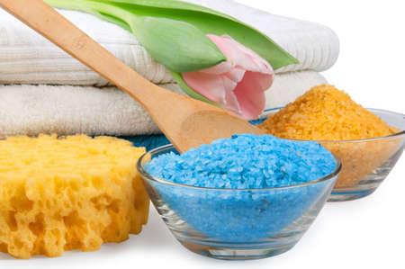 helthcare: spa salt and towels