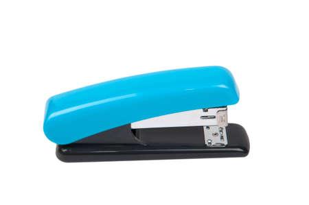 office stapler: blue stapler. Stock Photo