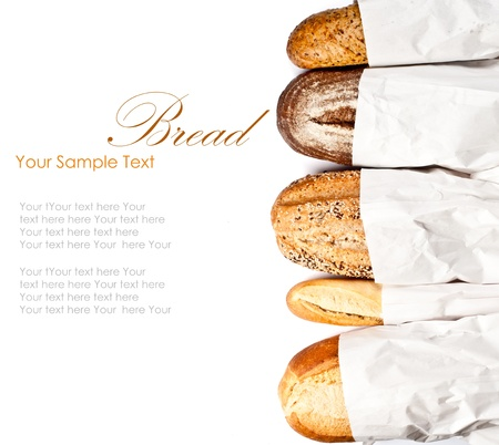 yeast: Fresh baked traditional bread and wheat Stock Photo