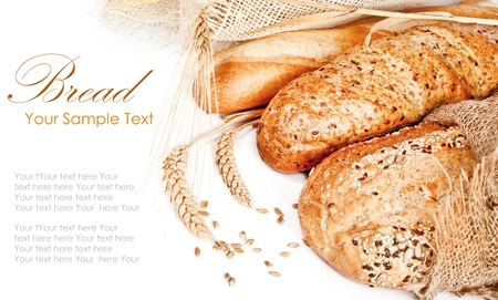 Fresh baked traditional bread and wheat Stock Photo - 17936746