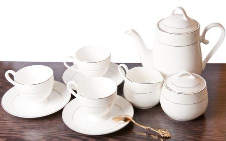 Porcelain dishware Stock Photo