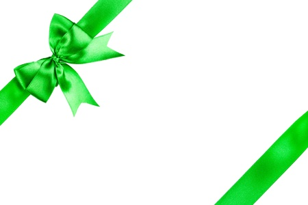 Satin gift bow isolated on white photo