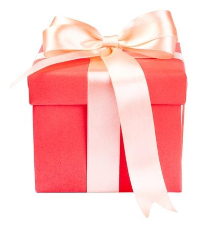 Coffret cadeau avec ruban de satin présente