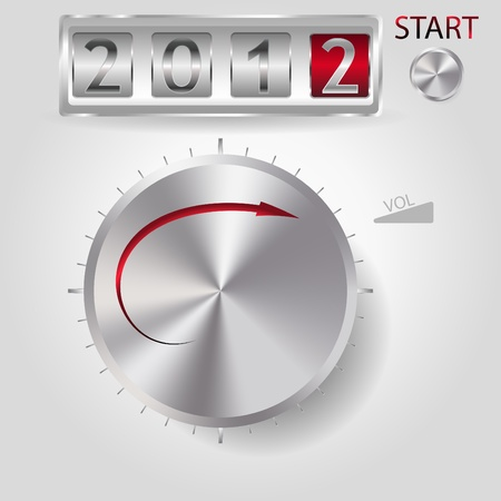 2012 new year volume control Vector