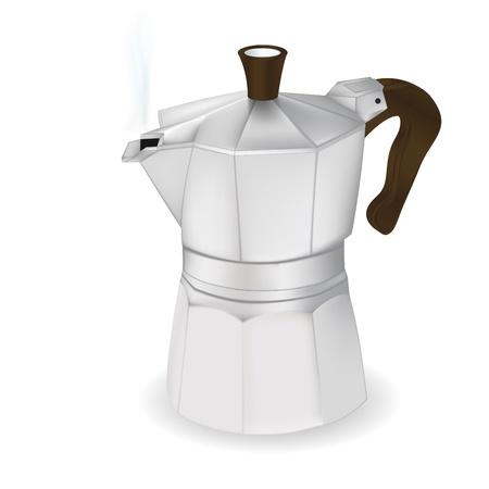 Kaffeemaschine, Vektor fotorealistische ilustration, isolierten onwhite Illustration