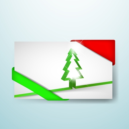 Christmas card with red and green corners Illustration