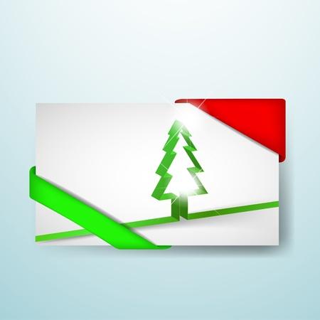 Weihnachtskarte mit roten und gr�nen Ecken