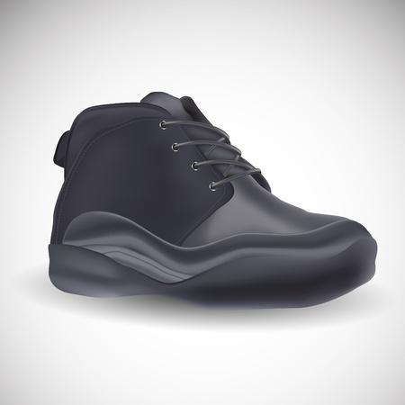 Closeup Vektor realistische Schuhe, isoliert auf wei�