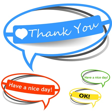Thank you paper sticker Stock Photo