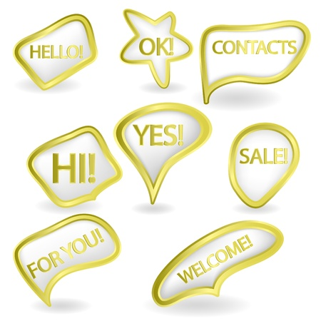 golden speech bubbles