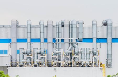 emission: Pipe factory smoke emission