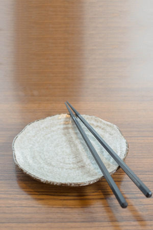 chop stick: General dinner and lunch set with chop stick, can be use for various foods related concept design and background.